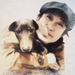 アポロパパと愛犬アポロ