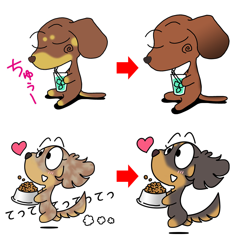 アポロパパのLINEスタンプイラストを愛犬と同じ毛色にアレンジ出来ます♪