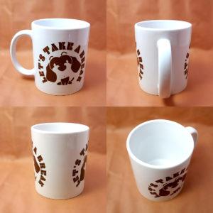 ダックスフンドのイラストがデザインされたマグカップです♪