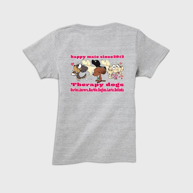 ドッグセラピー活動をされてるお客様用にTシャツを作らせていただきました
