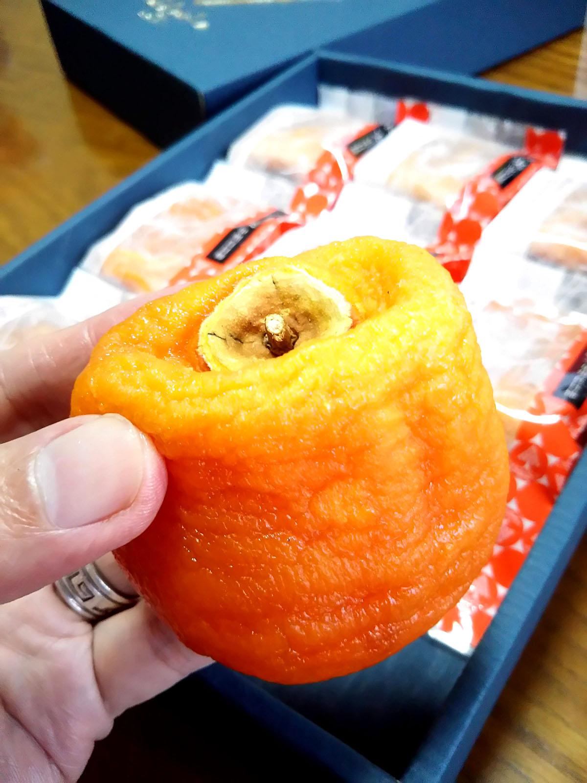 マルサフルーツ古屋農園のあんぽ柿をいただきました